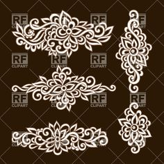 Ornate ornamental floral elements Vector Image – Vector illustration of Design elements © bariskina Ribbon Embroidery, Embroidery Art, Embroidery Designs, Free Vector Clipart, Vector Graphics, Motifs Islamiques, Doodle Frames, Islamic Patterns, Illustration Vector