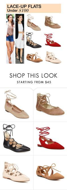 """Under $100: Lace-Up Flats"" by polyvore-editorial ❤ liked on Polyvore featuring GC Shoes, Rialto, Nine West, Franco Sarto, MIA, under100 and laceupflats"