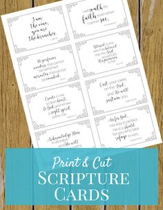 Need some words of encouragement? Print these scripture cards to carry with you or keep visible anywhere: your desk, the kitchen, your planner, the car.any place you will see them as a reminder of the One who cares for you. Printable Prayers, Printable Bible Verses, Scripture Cards, Scripture Study, Scripture Memorization, Bible Art, Prayer Jar, Christmas Scripture, Verses For Cards
