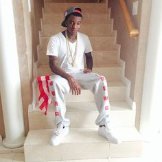 Soulja Boy wearing Nike Air Force 1