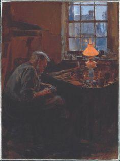 The Cobbler, Stanhope Alexander Forbes. Irish Realist Painter (1857-1947)