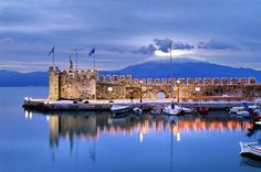 The harbour of Nafpaktos, Greece