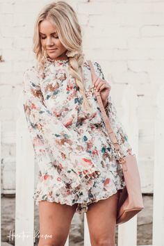 95bd65dfa2b8 BELL SLEEVE FLORAL ROMPER + TIPS FOR WORKING WITH YOUR SPOUSE