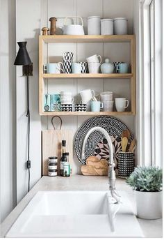 Scandinavian Inspiration | Kitchen | Soft pastels, chic styling & bright whites. It's a Scandinavian takeover this week...