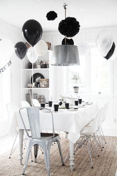 { k j e r s t i s l y k k e } - black + white party