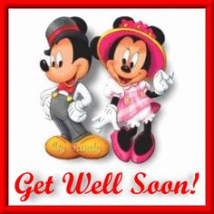 Get Well Soon Glitter Graphics