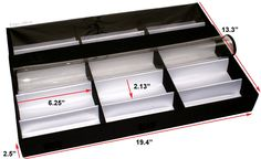 Amazon.com: Display Case / Box / Tray Storage Organizer with Clear PC Lid - Sunglasses, Eyewear, Jewelry, Watches, Fashion For 15-Piece Accessories: Shoes