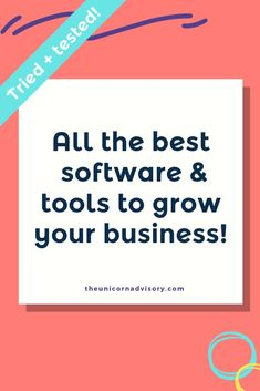 Use the resource guide to discover Sue from The Unicorn Advisory's toolkit - the very best tools and software to grow an online business. From email marketing to productivity to website software and online file storage, this list will help you sort through the many MANY software options out there to know what is worth using. These tools are tried and tested - the very same tools and software we use and our clients use. Recommendations you can trust! #smallbusiness #marketing #softwarereview Business Advice, Business Entrepreneur, Business Planning, Business Marketing, Email Marketing, Affiliate Marketing, Social Media Marketing, Online Business, Entrepreneur Ideas