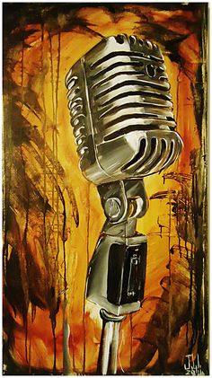 JEREMY WORST Mic Original Artwork Signed Print by JeremyWorst, $50.00