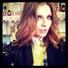 .@Mischa Barton | @grazia_live thanks for today guys ! #erdem shirt #muubaa leather jacket | Webstagram - the best Instagram viewer