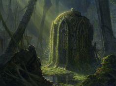 Overgrown ruins | Fantasy Art