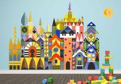 It's a Small World - Magic Facade fabric wall decal.  oopsydaisy.com