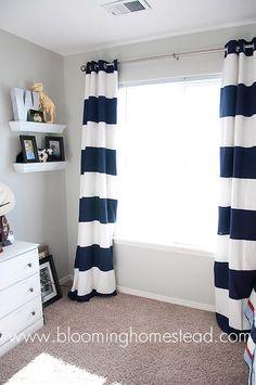 DIY Striped Curtains DIY Curtains DIY Home DIY Decor