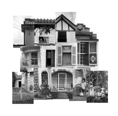 '(under)construction' by Brazilian photographer Letícia Lampert, as part of a series of photo collages intended for sale. 2008.