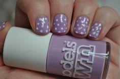 Puantiyeli lilac dream