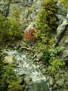 Water Falls and streams | Model Railroad Hobbyist magazine | Having fun with model trains | Instant access to model railway resources without barriers #modeltrains #modelrailway