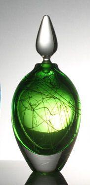 Stuart Akroyd green perfume bottle.