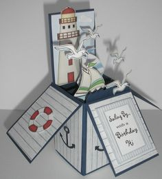 Box Cad Nautical theme for a man by Barbara Rogers