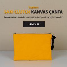 Sarı clutch kanvas çanta İşte Çanta'da! Hemen sipariş vermek için istecanta.com adresini ziyaret edebilirsiniz. #bezcanta #beztorba #elcantasi #toptan #totebag