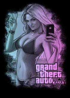GTA V 5 Five Grand Theft Auto Kate Upton Shirt Size 2XL   eBay