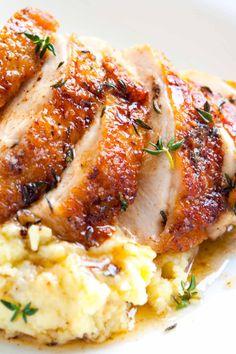 Easy Pan Roasted Chicken Breasts with ThymeReally nice recipes.  Mein Blog: Alles rund um die Themen Genuss & Geschmack  Kochen Backen Braten Vorspeisen Hauptgerichte und Desserts