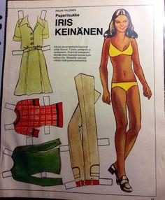 Finnish paper doll Iris Keinänen 70's