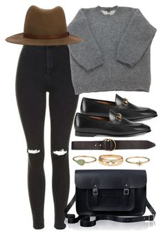 """""""Untitled #5789"""" by rachellouisewilliamson on Polyvore featuring Topshop, Louis Vuitton, rag & bone, Gucci, The Cambridge Satchel Company and Billabong"""