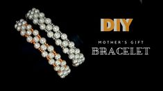 How to make How to make beads bracelets for mom, sister, grandmother Easy beading for beginners. Create your own jewelry by making beautiful bracelets, neckl. Mother's Day Bracelet, Sister Bracelet, Pearl Bracelet, Paper Bead Jewelry, Paper Beads, Beaded Jewelry, Easy Beading Patterns, Beading Tutorials, Diy Gifts For Mothers