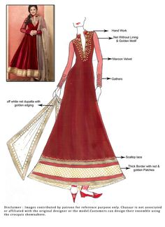 Buy online Salwar Kameez for women at Cbazaar for weddings, festivals, and parties. Explore our collection of Salwar suits with the latest designs. Wedding Dress Sketches, Dress Design Sketches, Fashion Sketches, Indian Wedding Sari, Indian Wedding Outfits, Indian Outfits, Bollywood Outfits, Pakistani Outfits, Bollywood Fashion