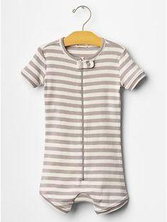 Organic stripe sleep romper | Gap