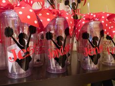 Cheer Tumblers Personalized  with straw by GetItPersonalized