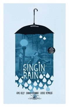 Singin in the Rain alternative movie poster by Adam Juresko