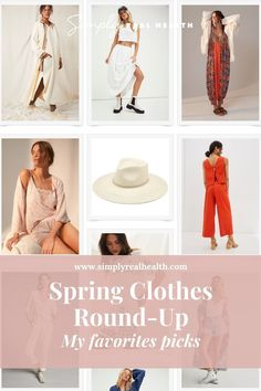 My Spring Clothes Round-Up | Simply Real Health | As I've been looking around at some spring fashion this last week, I decided to put them all in a little roundup for those of you that love these. I always feel so silly doing these, because I'm so far from a fashion blogger, but I do LOVE picking clothes that make me feel the way I want to feel in my life. Check out the post for all my favorites! #springclothing#clothingroundup#simplyrealhealth Spring Clothes, Spring Outfits, Beach Attire, My Spring, Spring Fashion, Favorite Things, Street Style, Health, Check
