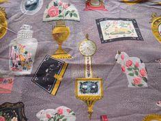 Vintage Fabric Remnant  Albert John Pucci Heirloom by pumpkintruck