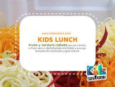Kids Colors - Estimulación Temprana #KidsTips #LunchSaludable Fruta o verdura rayada con limón un poco de sal y chilito nunca está de más.  Lo rico no está peleado con lo saludable.  www.kidscolors.com  (449) 916.2626