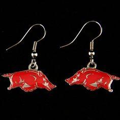 Arkansas Razorbacks Team Dangle Earrings