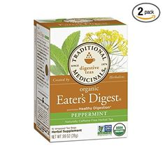 2 Packs of Traditional Medicinals Organic Eaters Digest Herbal Tea  16 Tea Bags -- Continue to the product at the image link. (This is an affiliate link and I receive a commission for the sales)