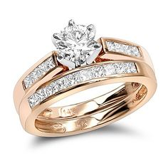 This 14K Gold Designer Diamond Engagement Ring set consists of a diamond engagement ring and matching diamond band. The ring  showcases a 0.50 carat round diamond in the center and 0.24 carats of baguette cut diamonds on the sides for a total of 0.74 carats of dazzling diamonds. The Engagement band  showcases 0.33 carats of dazzling baguette cut diamonds.