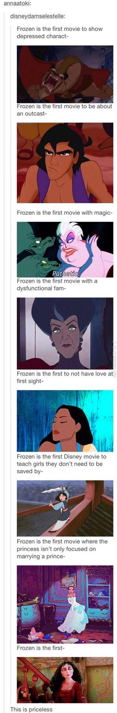 Frozen is the first... Oh