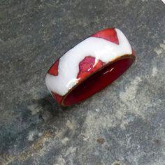 Enamel thumb ring / Anillos de Pulgar de Esmalte al Fuego Transparente por MNesmalts