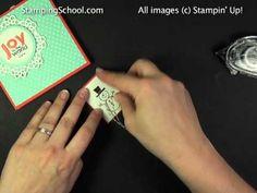 Video Button Buddies - Snowman  A more elaborate snowman card