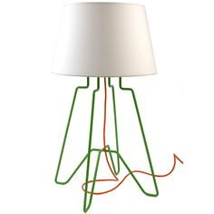 Dwarf lamp Green/White by Something from Us at BODIE and FOU | Floor lamps