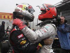 Sebastian Vettel, Red Bull a Michael Schumacher, Mercedes