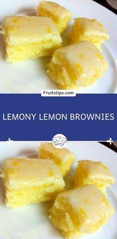 Lemon Dessert Recipes, Köstliche Desserts, Lemon Recipes, Sweet Recipes, Baking Recipes, Delicious Desserts, Yummy Food, Health Desserts, Brownie Recipes