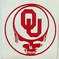 Grateful Dead decal,OU Sooners,die-cu...