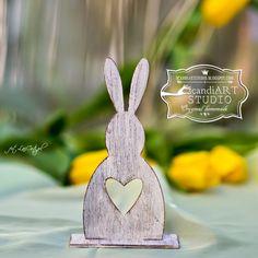 Dekoracje Wielkanocne - króliki z serduszkiem