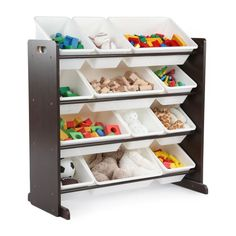 Charmant Tot Tutors Kids Toy Storage Organizer With 12 Bins   Espresso