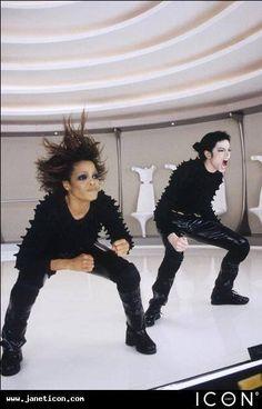 "Michael Jackson's ""scream"" with his sister Janet Jackson"