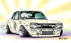 "deguzzi:  komeiju:  ozizo:  car illustration original cartoon ""mame mame rock"" / (c) ozizo Hi. How are you all? I am fine. Treatment is ..."