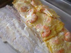 de sucre i sal: merluza rellena al horno Seafood Recipes, Potato Salad, French Toast, Ice Cream, Cheese, Meat, Breakfast, Ethnic Recipes, Desserts